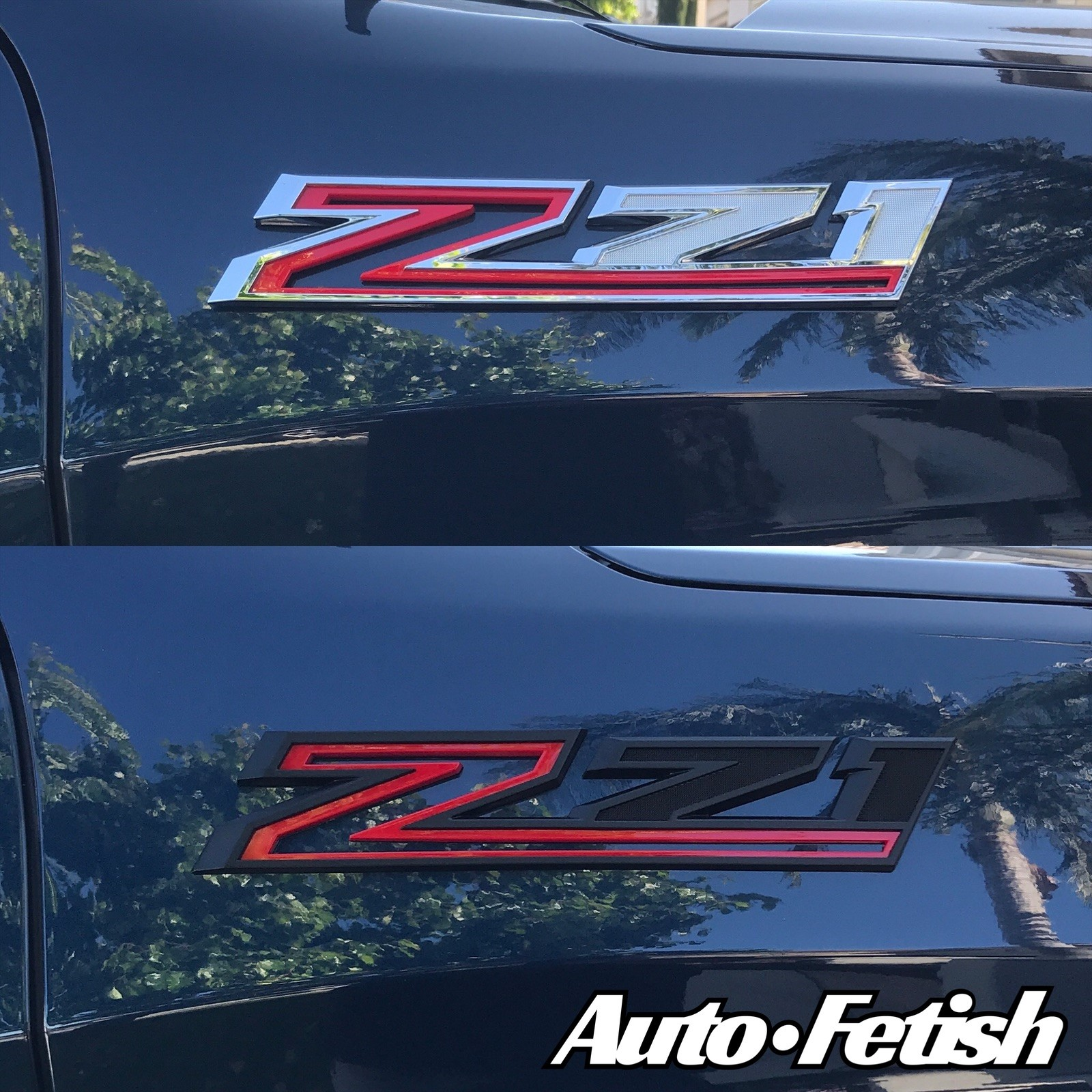 2020 Chevy Z71 truck badge replacement