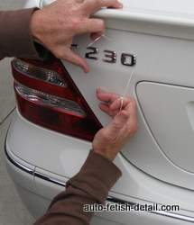 car emblem removal