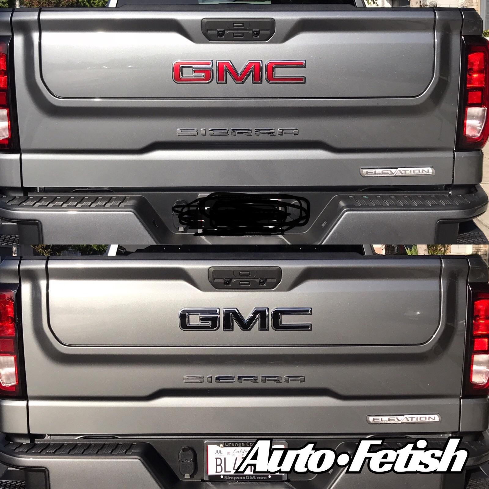 2021 GMC badge swap