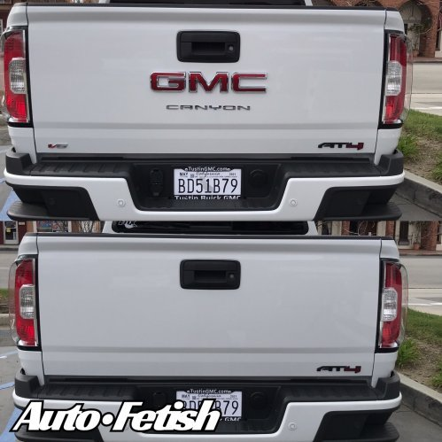 GMC canyon truck badge removal