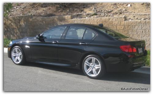 BMW 550i auto detail