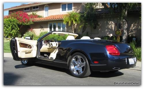 Bentley Convertible auto detail