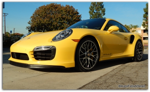 Porsche 911 Turbo S auto detail