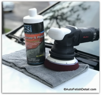 car buffer with car polish
