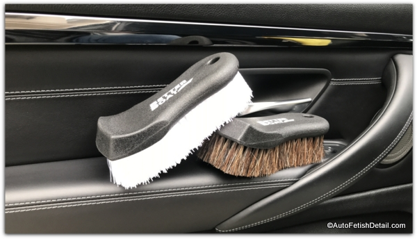 car leather cleaning brushes in BMW