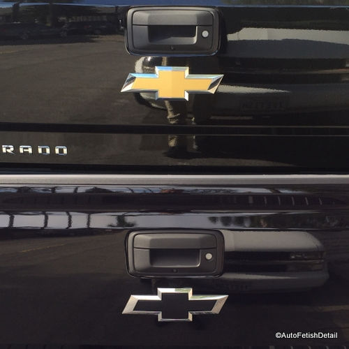 Chevy truck car emblem removal