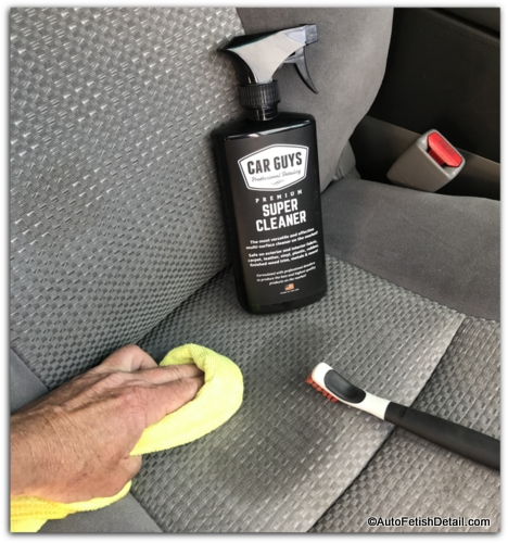 cleaning car upholstery
