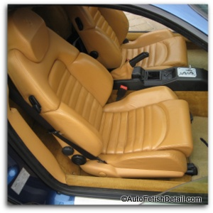 ferrari car leather cleaning