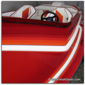 Hamilton boat with best fiberglass wax on it