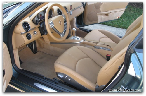 leather car interior
