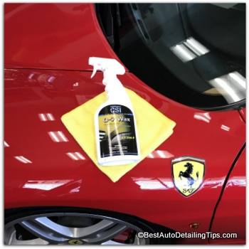 micro fiber detail cloth on red Ferrari