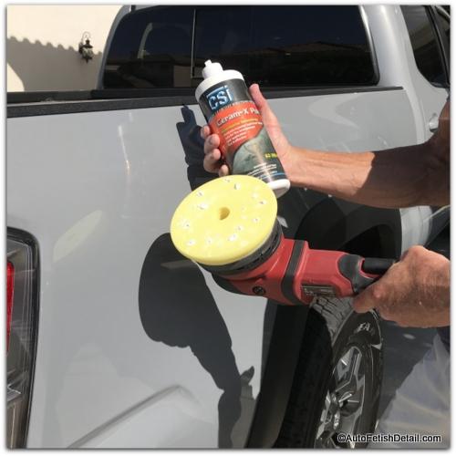 polishing car paint after debadging car emblem