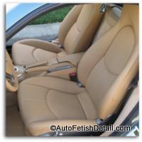porsche car leather interiors