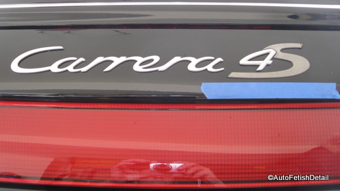 porsche carrera 4s badge replacement