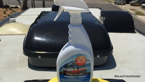 RV roof accessories treatment