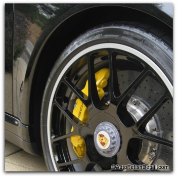 tire shine on Porsche turbo s tire