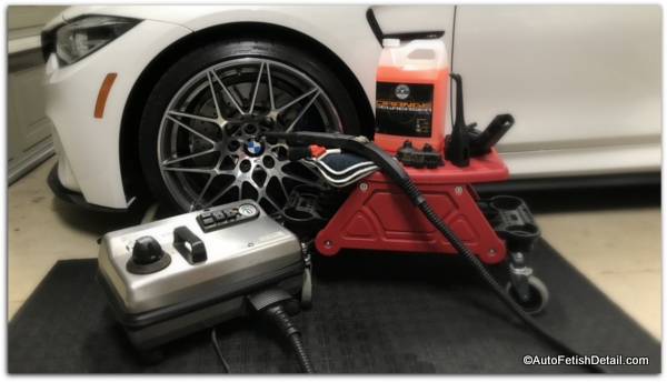 vapor steam cleaner used for auto detailing