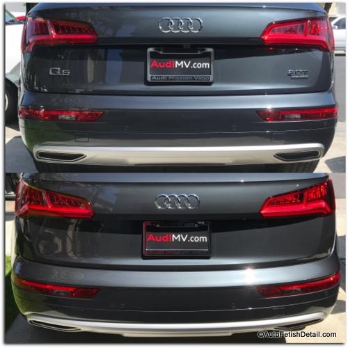 Audi Q5 car emblem removal