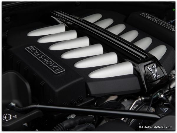 car engine bay detailing Rolls Royce Ghost