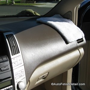 car leather conditioning buildup