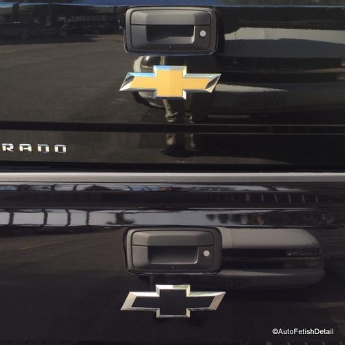 Chevy truck car emblem removal