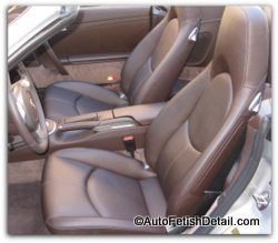 clean car leather
