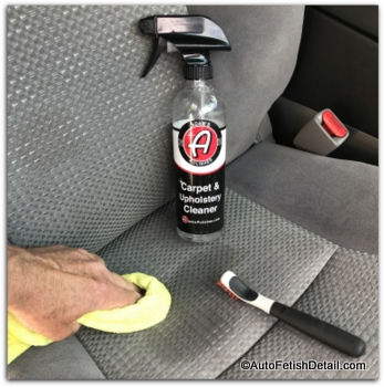 cleaning car seats with adams upholstery shampoo