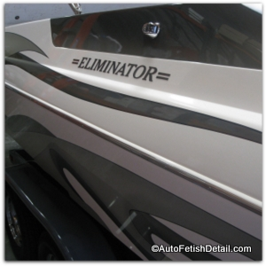 Eliminator boat with best fiberglass wax