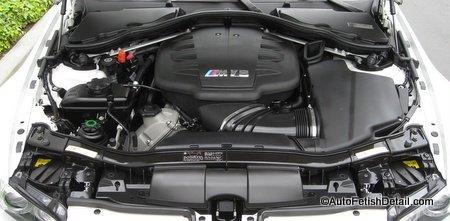 engine bay detailing BMW M3
