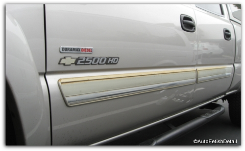 faded truck side trim molding
