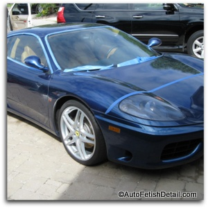 ferrari paint correction