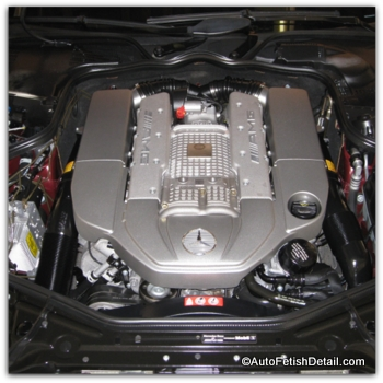 how to detail car engine of Mercedes CLS63 AMG