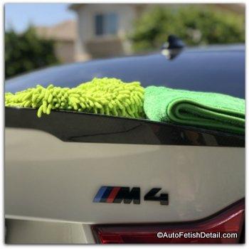 optimum no rinse car wash technique