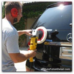 polishing car after emblem removal