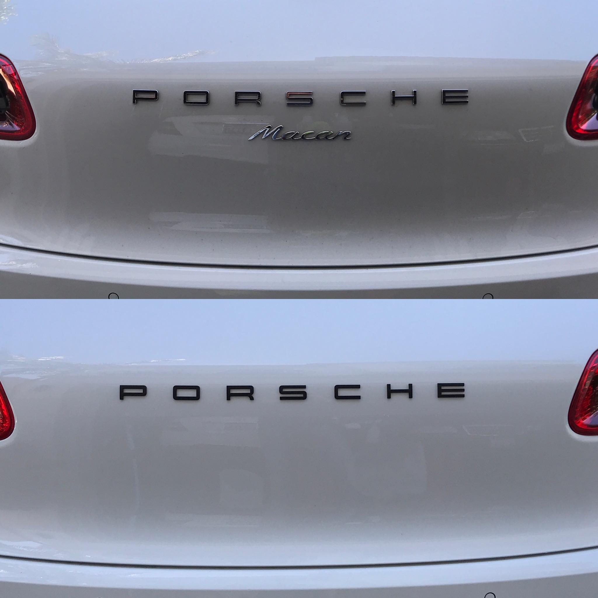 Porsche Macan emblem removal