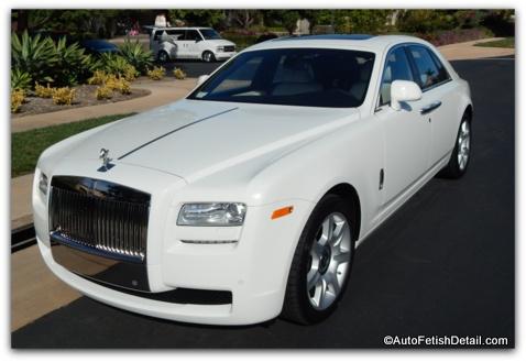 Rolls Royce detailing orange county