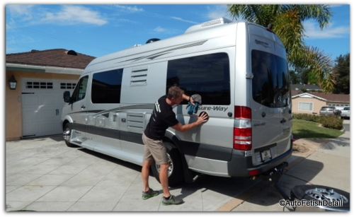 RV cleaning sprinter conversion van