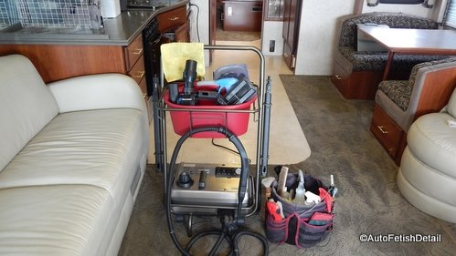 RV interior detailing cleaning