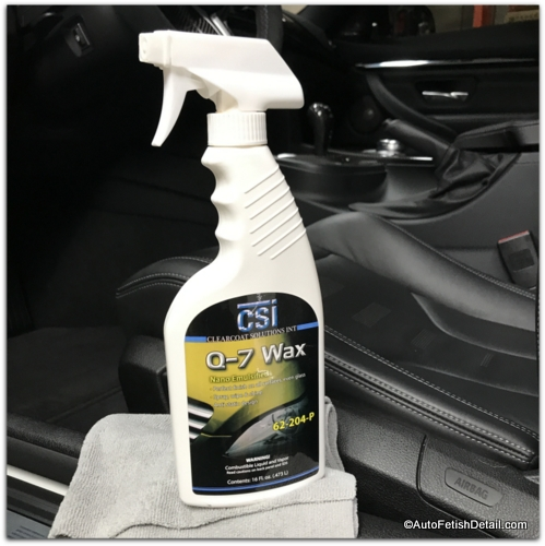 using q-7 wax for leather car seat care and conditioning